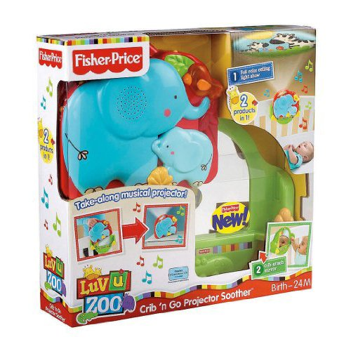 Fisher Price Crib Toys : Fisher price luv u zoo crib n go projector soother by